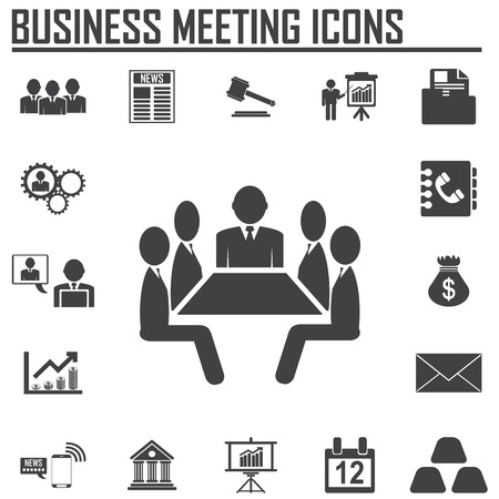 discuss: Business meeting and discuss icons
