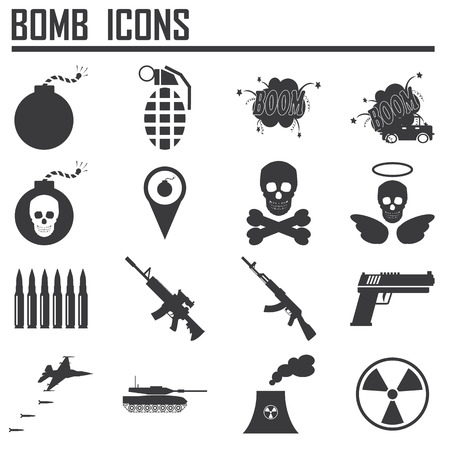 war on terror: Bomb icon,weapon
