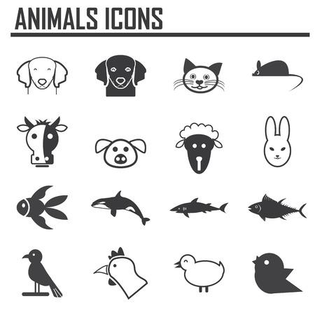 animales silvestres: vector colecci�n de iconos de animales Vectores