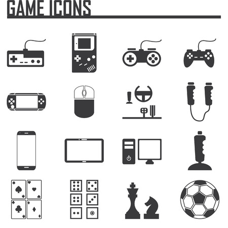 Game Entertaining Icons Vector