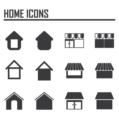 Vector home icons  イラスト・ベクター素材