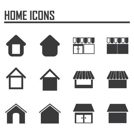 Vector home icons Çizim