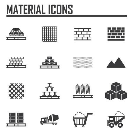 materiali edili: Materiali da costruzione Vettoriali