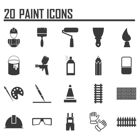 hombre pintando: Iconos Pintura