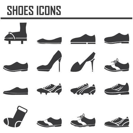 zapato: zapatos conjunto de iconos