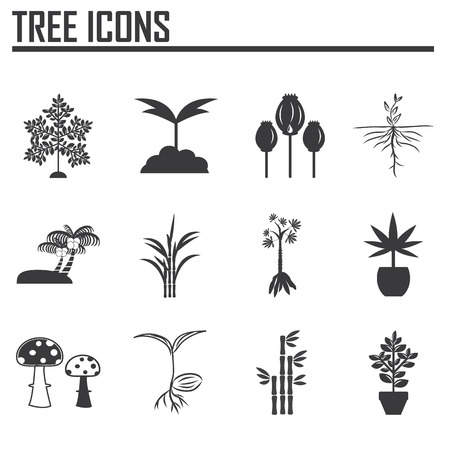 plant drug: Tree icons