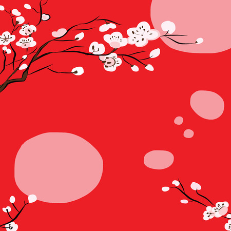 vector of abstract chinese new year graphic and background  イラスト・ベクター素材