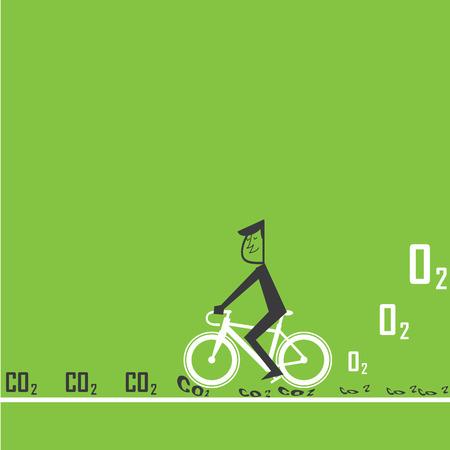 fiets te verminderen CO2