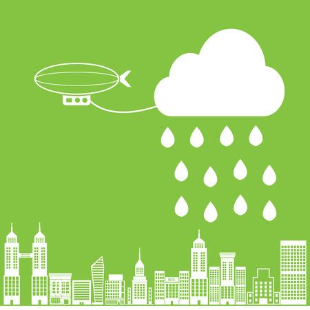 fell: Lead Balloon rain fell on the city.