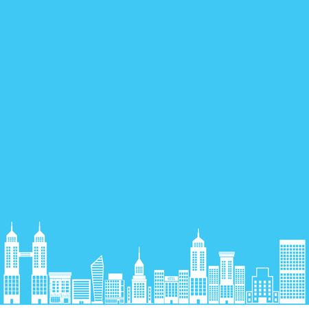city  on blue background,vector Vector