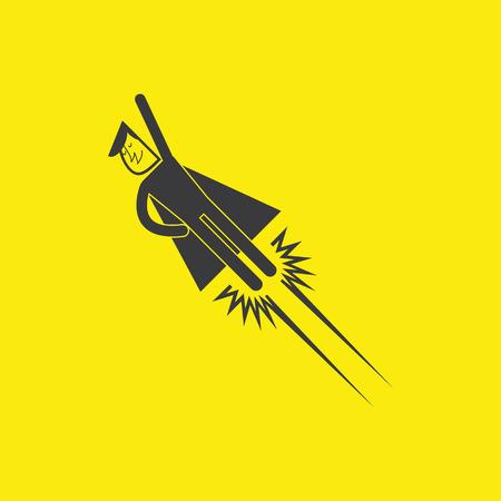superheld pictogrammen Stock Illustratie