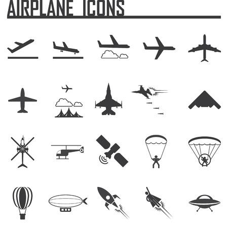 vliegtuig pictogrammen instellen