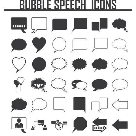 bubble background: Speech Bubble Background. Illustrazione vettoriale