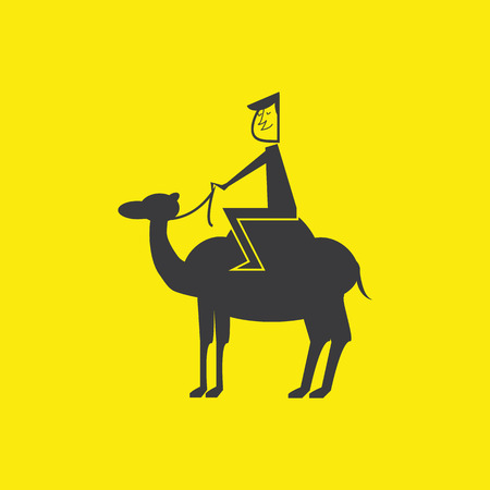 nomadic: Man on the camel Illustration