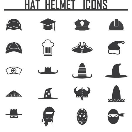 Icons set hats Иллюстрация