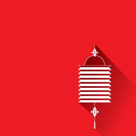Chinese traditionele rode lantaarns  Wenskaart met een Aziatische Nieuwjaar