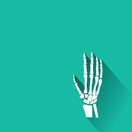 Orthopedische en wervelkolom symbool - vector illustratie, de verzameling menselijk skelet.
