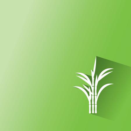 la caña de azúcar en el fondo verde