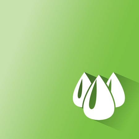 oil, ethanal,water,drop on green background Vector