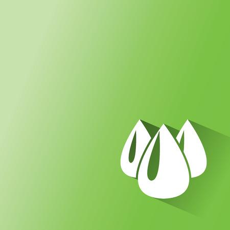 scientific farming: oil, ethanal,water,drop on green background