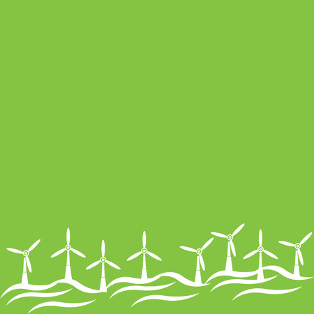windfarm: Electric Windmill Landscape Illustration