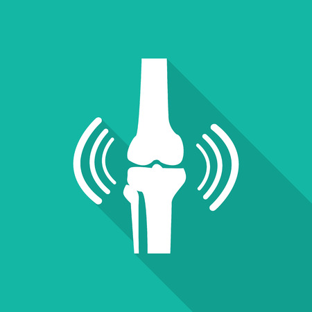 Orthopedic  symbol icon with long shadow. Vector