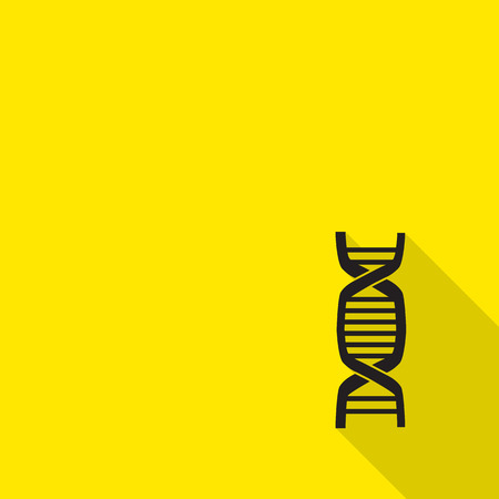 deoxyribonucleic: DNA sign icon. Deoxyribonucleic acid symbol. flat icon with long shadow. Illustration