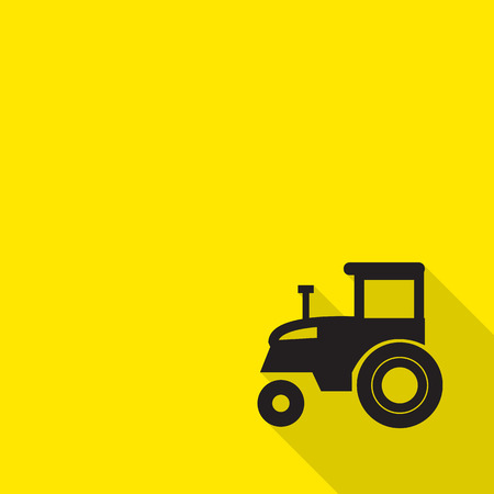 agronomic: icon tractor with long shadow