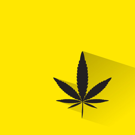 canabis: marijuana, Cannabis icon with long shadow. Illustration