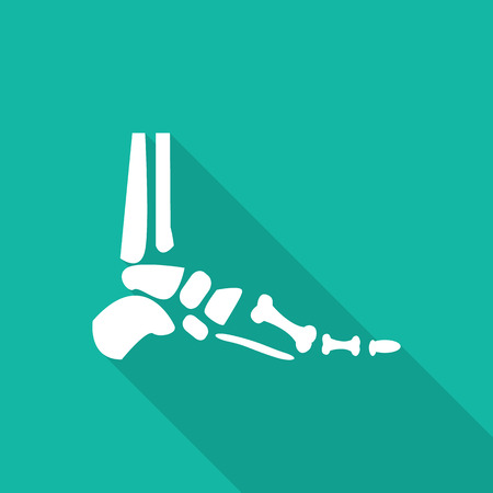 Orthopedic  symbol icon with long shadow.