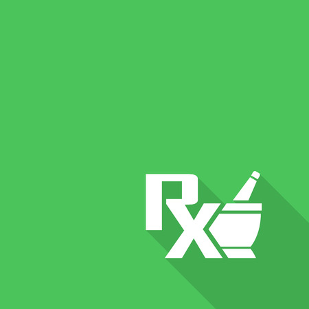 pharmacist: Vector pharmacy symbol - mortar and pestle