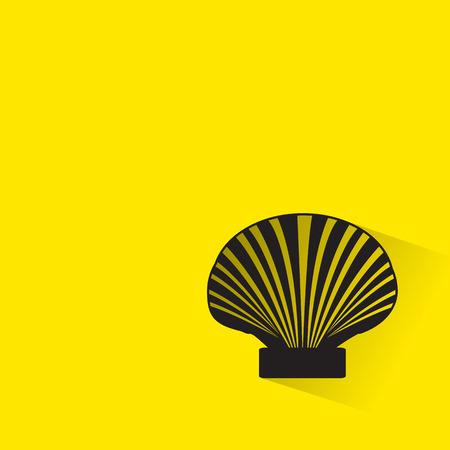 sea shell: Sea shell icon with long shadow.