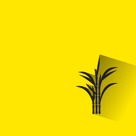 sugar cane icon with long shadow. Illustration