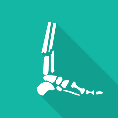 chest x ray: Orthopedic  symbol icon with long shadow.