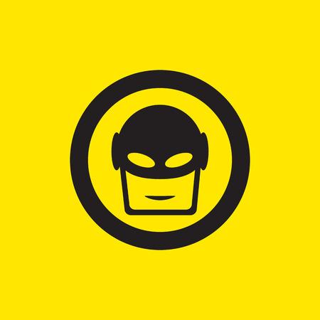 body guard: superhero icon illustration