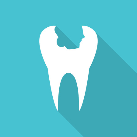 fillings: tooth icon with Long Shadow.