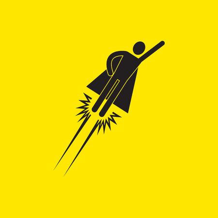 superhero icon illustration