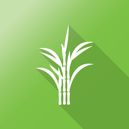 sugarcane: sugar cane flat icon with long shadow Illustration