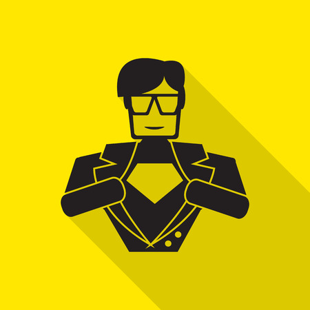 superhero icon illustration 版權商用圖片 - 41575995