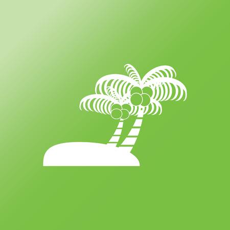 bole: palm tree flat icon with long shadow.