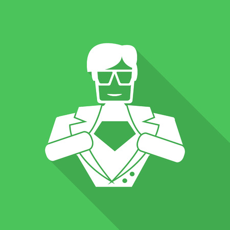 superhero icon illustration