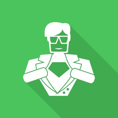 superhero icon illustration 版權商用圖片 - 41575740