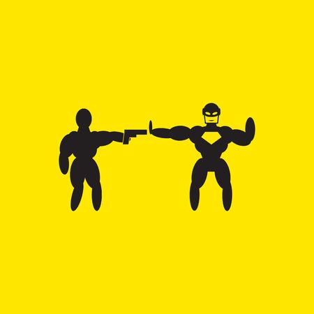 superhero icon illustration 版權商用圖片 - 41575896