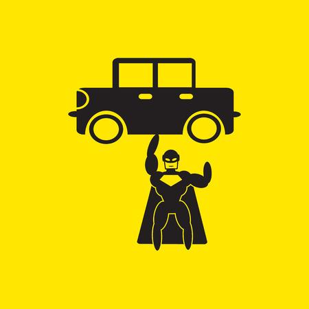 superhero icon illustration 版權商用圖片 - 41575599