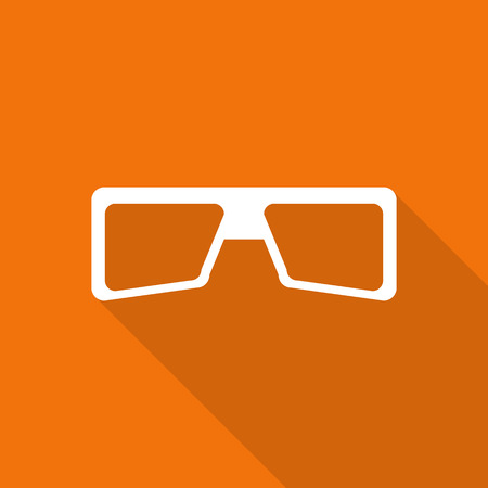 safety glasses: Safety glasses flat icon with long shadow.