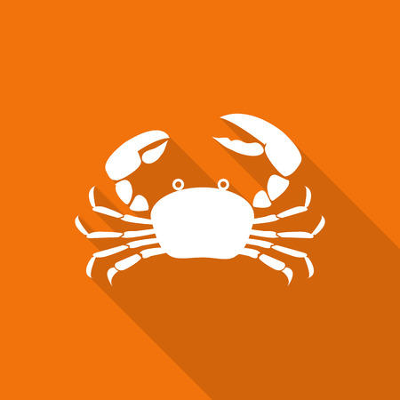 seafood flat icon with long shadow.