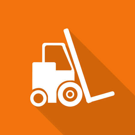 lift truck: Lift truck icon with long shadow.