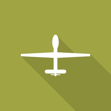 Military drones flat icon with long shadow.