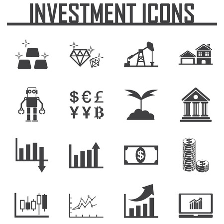wood sign: investment icon vector illustration. Illustration