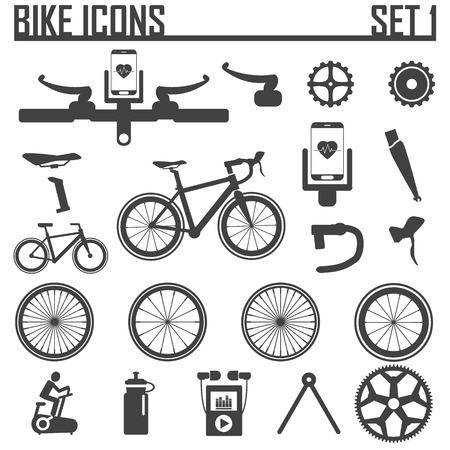 vehicle part: bike icon vector illustration. Illustration